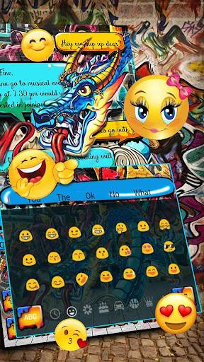dragon graffiti keyboard screenshot 2