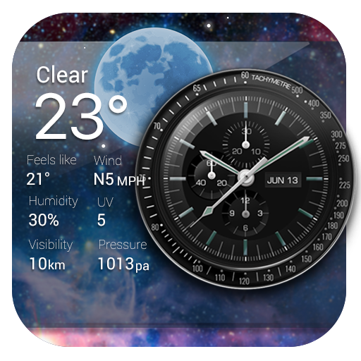 Clock and Weather on Homescreen