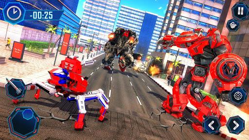Spider Robot Car Transform Action Games  screenshots 4