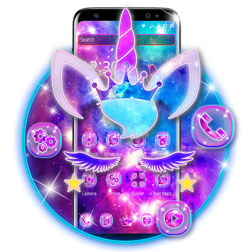 shiny galaxy cute unicorn theme apps on google play free android