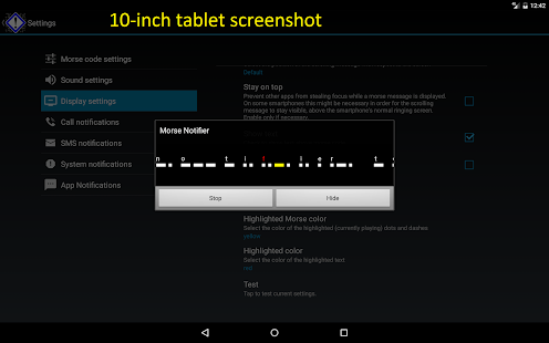 Morse Notifier Pro- screenshot thumbnail