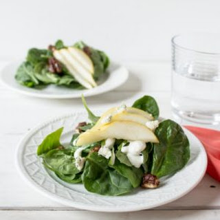 Spinach, Pear and Blue Cheese Salad