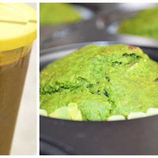 Spinach - Smoothie, Muffin and Popsicle.