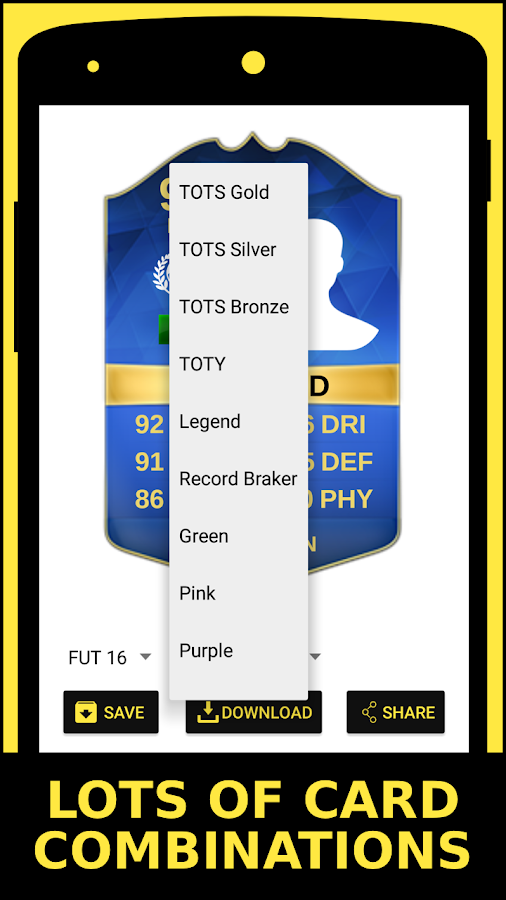 FUT Card Generator- screenshot