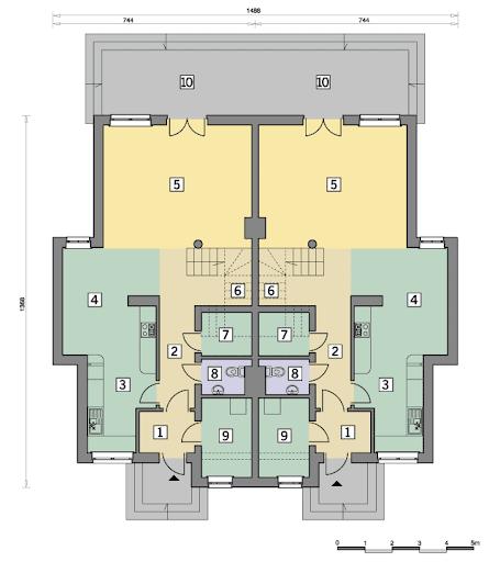 B-1003 Czynele - Rzut parteru