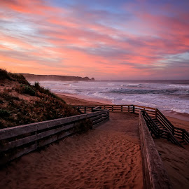 Sunrise, Cape Woolamai by Gary Parnell - Buildings & Architecture Other Exteriors ( garyparnellphotography, victoria, sunrise, ocean, the pinnacles walk, #garyparnellphotography, beach, australia, phillip island, #phillipisland, cape woolamai )
