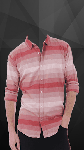 Man Casual Shirt Photo Suit screenshot 5