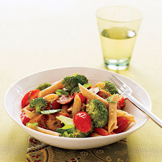 Whole Wheat Penne with Broccoli and Sausage.