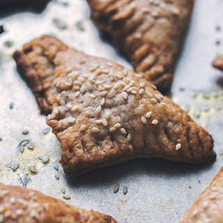Spinach and Ricotta Puff Pastry Triangles [Vegan].