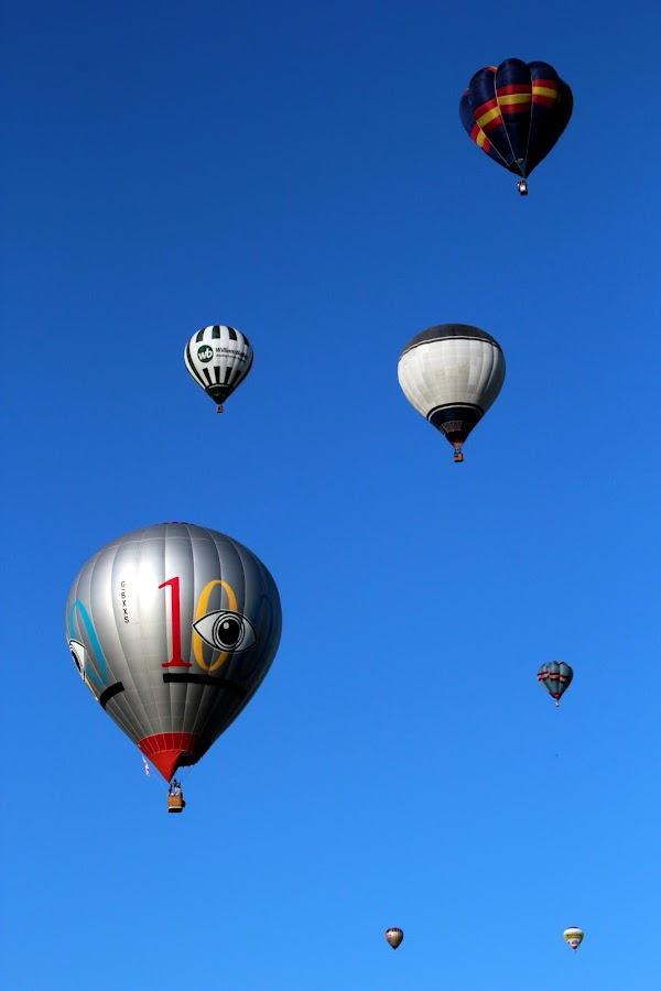 skyward by Keith Millard - Transportation Other ( northampton balloon festival, summer, ballooning, leisure, balloons )