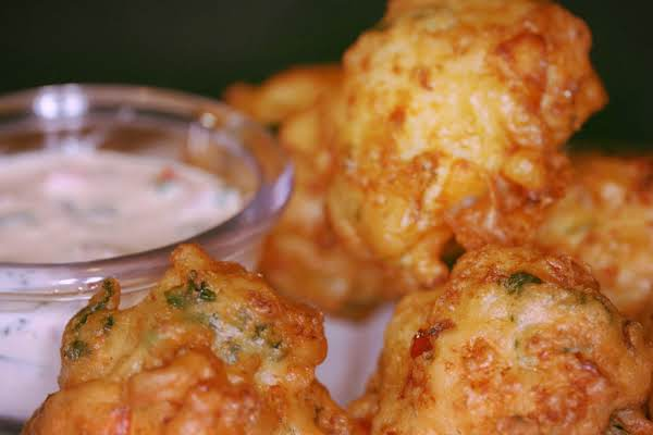 Seafood Fritters With Marmalade Dipping Sauce