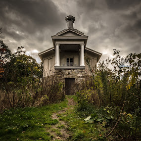 Haunted Hill by Frank Kruller - Buildings & Architecture Public & Historical ( clouds, hill, dundurn castle, haunted, manor )