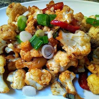 Spicy Cauliflower & Peppers Casserole