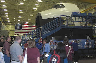 Photo: Flight controller Michael Allyn gives a tour on the SVMF floor