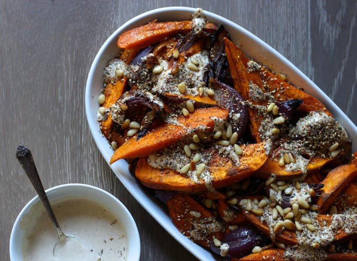 Sweet Potato and Red Onion with Tahini and Za'Atar Recipe