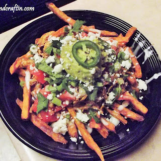 Chipotle Chicken Sweet Potato Fries Nacho's!!