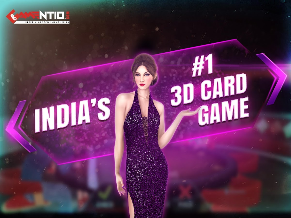 Gamentio 3D Teen Patti Poker Rummy Blackjack +More- screenshot