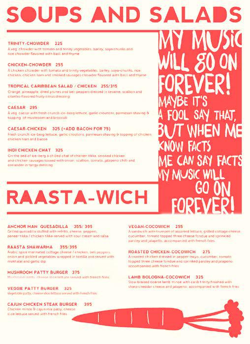 Raasta menu 2
