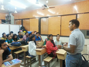 Photo: IPS Ajay Kumar adressing Students at A A SHAH's IAS Institute, Thane