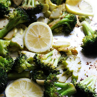 Easy and Quick Roasted Lemon Broccoli.