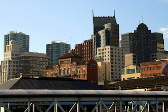 """Photo: The center building reminds me of the AT&T Bldg in Nashville, aka the """"Batman Building"""""""