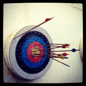 My archery target. by Preyan Mehta - News & Events Sports