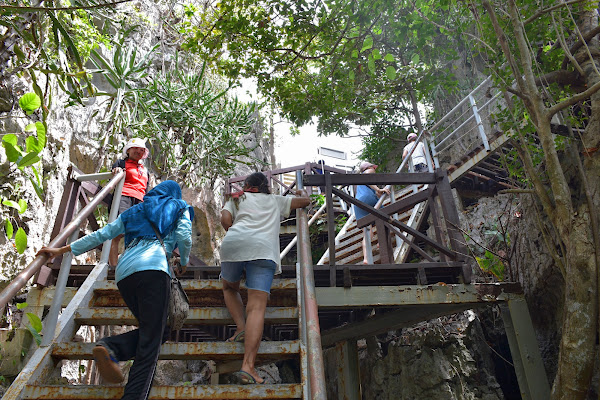 Climb up to the top of the panoramic Mae Koh Island