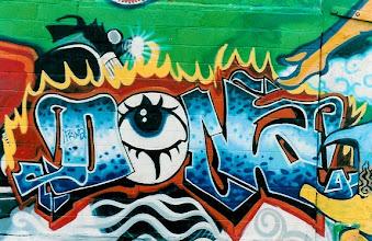 Photo: A piece by NYC graffiti artist Lady Pink