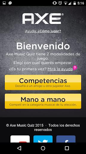 Axe Music Quiz