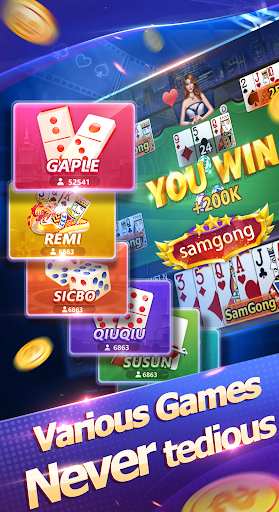 Samgong samyong sakong- online poker games 1.7.5 {cheat|hack|gameplay|apk mod|resources generator} 5