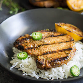 Grilled Pork Chops with Honey-Jalapeño Marinade.