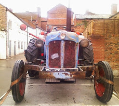 Photo: An old tractor being transported to a renovation holiday where hopefully it'll be transformed to brand new.. http://www.tractordata.co.uk/fordson_to_1964/pages/fordson_dexta/