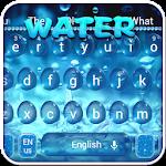 3D Glass Water Keyboard