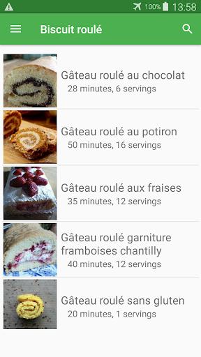 Biscuit roulu00e9 avec calories recettes en franu00e7ais. 2.14.10021 screenshots 7