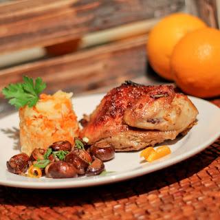 Orange Glazed Cornish Game Hen