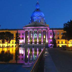 Legislature 100 by Rose McAllister - Buildings & Architecture Public & Historical ( lights_color_building_parliment_legislature,  )