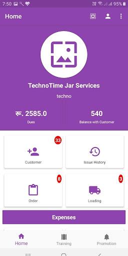 jarmantra app Drinking Water Jar Supply Business screenshots 1
