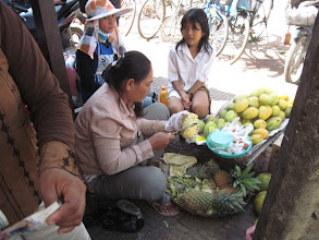 Photo: Fresh fruit for sale on the streets- a very common site
