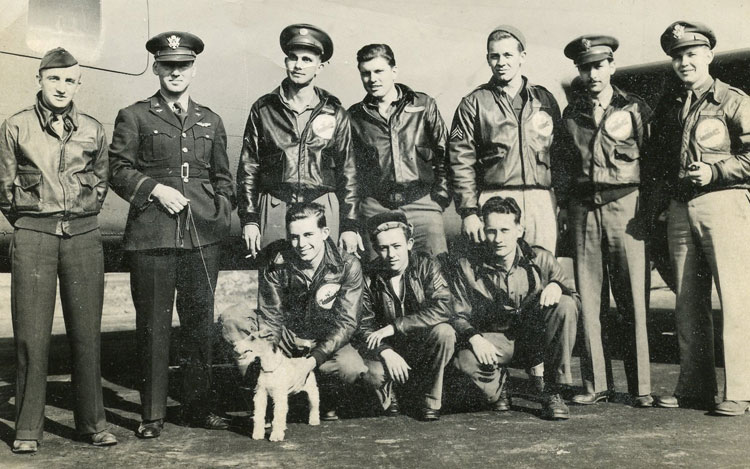 John, back row, second from right, with his first B-17 crew