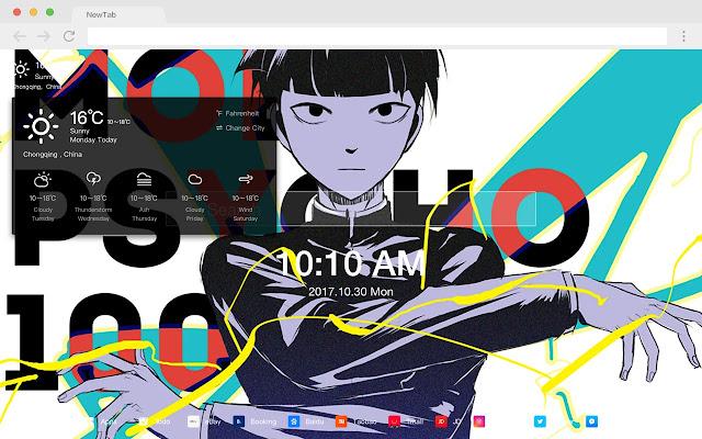 Kageyama Shigeo HD Anime New Tab Theme