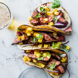 Steak Tacos with Pineapple.