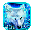 Blue Night Wolf Keyboard Theme