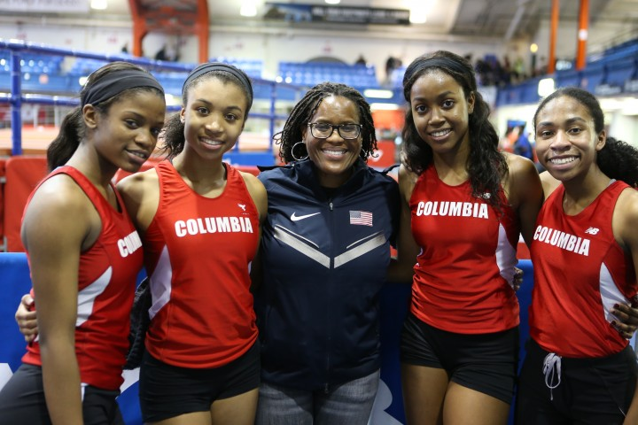 Columbia Maplewood NJ relay at the Millrose Trials.