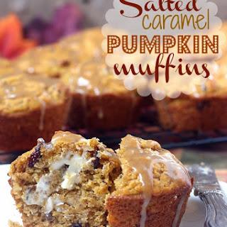 Salted Caramel Pumpkin Muffins