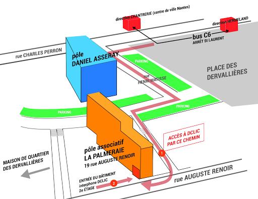 Plan d'accès Dclic