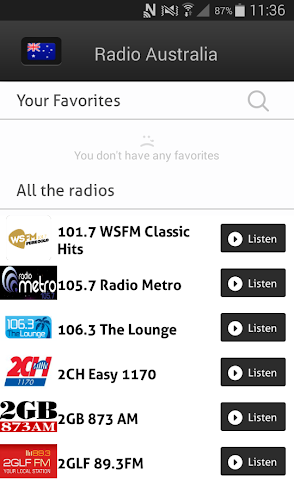 android Radio Australia - Radios AU Screenshot 1