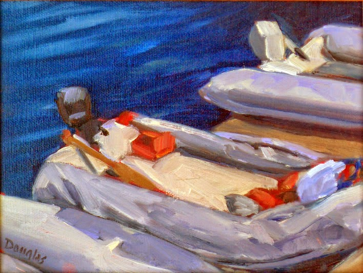 Photo: The Harbormaster's Dinghy 6X8 Oil on canvas