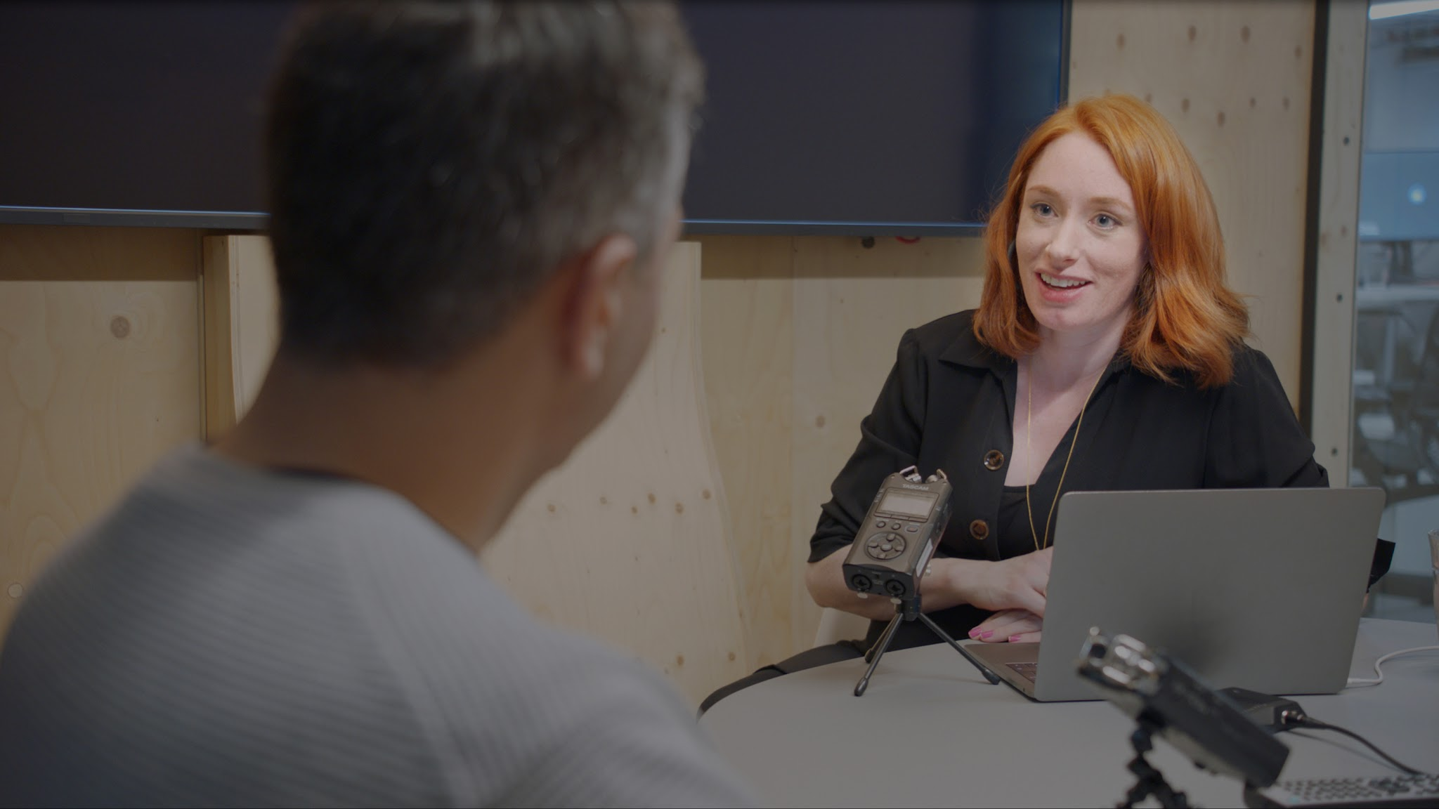 Dr Hannah Fry, the podcast presenter, pictured at an interview