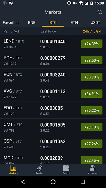 cryptocurrency trading app for android