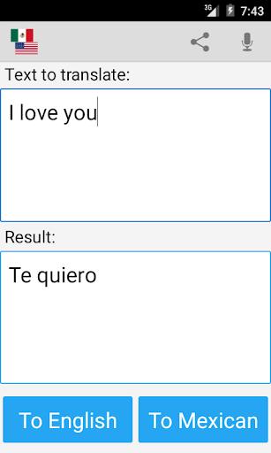 Mexican Translator Pro screenshot 3